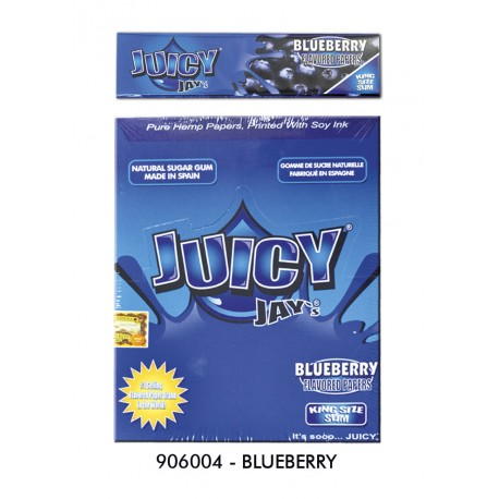 @PAPEL JUICY JAY'S SLIM BLUEBERRY (ARÁNDANOS)(110MM)(24)